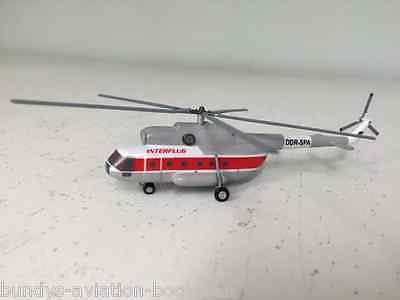Mil-8 Helicopter Interflug DDR-SPA a metal model in 1:200 from Sky Classics