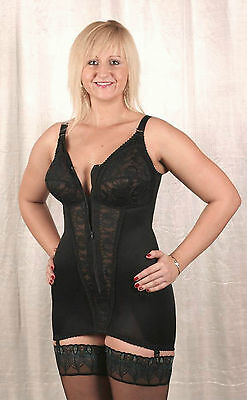 BNWT Retro Vintage Open Bottom Firm Control Corselette with Garters