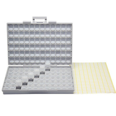 BOX-ALL enclosures 144 space w/ lids labels SMD SMT resistor Organizer 0805 0603