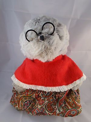 "Vintage EDEN Grandma Grandmother Bear Plush 14"" w/ Glasses"