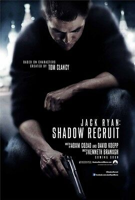 Jack Ryan Shadow Recruit ZWEISEITIG ORIGINAL Kinofilm PLAKAT Chris Pine