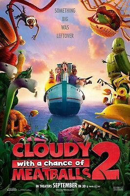 Trübe With A Chance Of Meatballs 2 ORIGINAL Kinofilm PLAKAT Einseitig cool