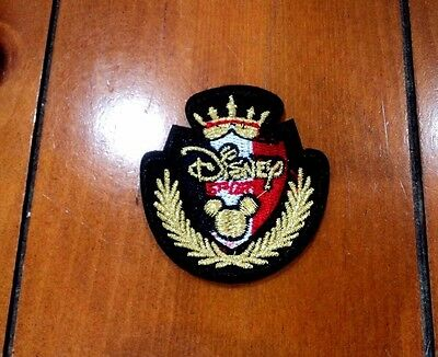 New Gold Disney Sport Mickey Embroidered Cloth Patch Applique Badge Iron Sew On