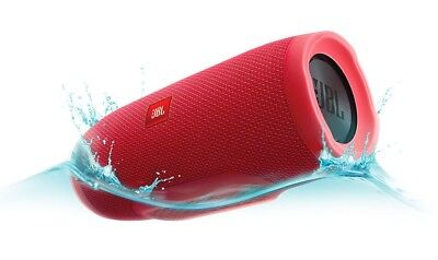 JBL Charge 3 Waterproof Portable Rechargeable Bluetooth Speaker with Mic - Red