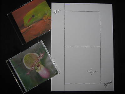 200 Sheet CD DVD Cover SLIMCASE / Inlays print your own 2 per on both sides