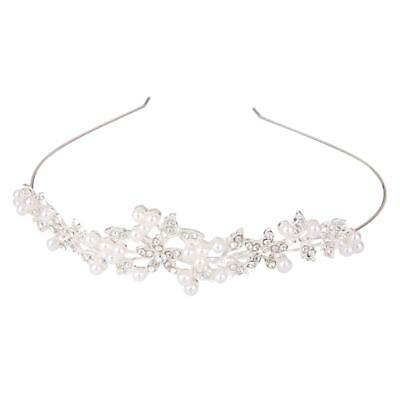 Wedding Bridal Crystal Rhinestone Pearl Headband Tiara Headpiece