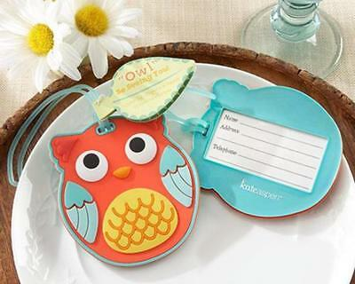 Owl Travel Luggage Baggage Bag Tags Office Name Address Card Labels