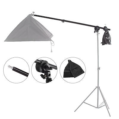 Boom Arm W/ Lock Nut Sandbag 1/4 Screw Fr Studio Continuous Flash Softbox Stand