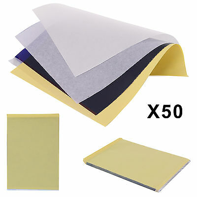 50 x A4 Tattoo Thermal Carbon/Copy Stencil Transfer Paper Tracing Kit A4