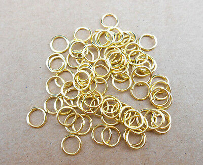 500Pcs 3MM-9MM Making Jewelry Findings GOLD Plate Opening Jump Rings