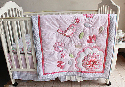 NEW Baby Cot Bedding Sets 7 PCs - Quilt Bumper Fitted Sheet 95-7