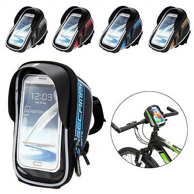 Cycling Bike Bicycle Front Top Frame Handlebar Bag Pannier Pouch Mobile Phone