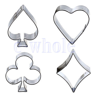Poker Cookies Cutter Steel Mould Cake Biscuit Pastry Baking Mold Sugarcraft WT