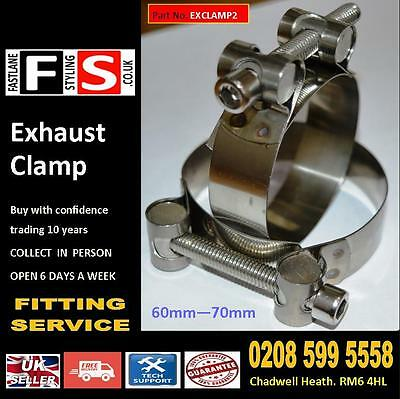 universal Exhaust Clamp Stainless Steel Clip 60mm-70mm