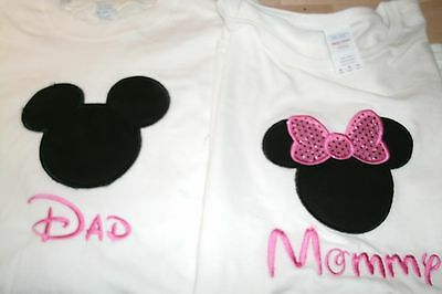 Mickey OR Minnie Disney Mouse Ears Personalized Shirt.. ONLY ONE
