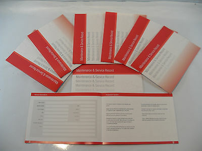 Replacement Generic Service History Book Suitable For Vauxhall Red