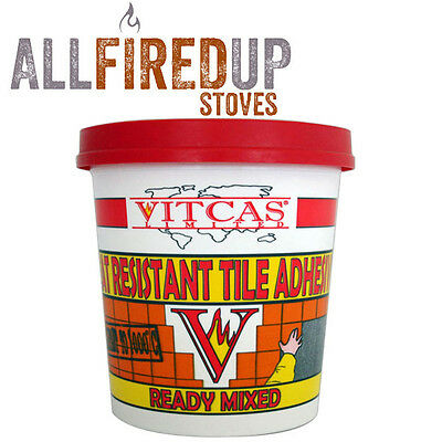 Vitcas Heat Resistant 5kg Tile Adhesive Up To 1000°C Ready Mixed