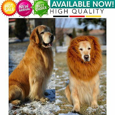 Pet Costume Dog Lion Wig Mane Hair Scarf Clothes For Party Halloween Festival FG
