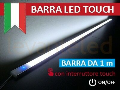Barra Led Touch Alluminio, Sotto Pensile Cucina, ON/OFF chip SAMSUNG Luce Fredda