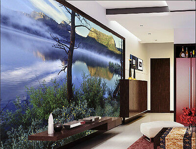 3D Lake Nature View water Wall Paper Wall Print Decal Wall Deco Indoor Murals