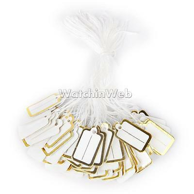 500 x Label Tie String Jewelry Display Price Label Tags Retail Product