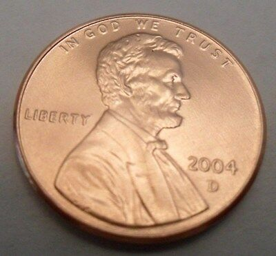 2004 D Lincoln Memorial Cent / Penny  **FREE SHIPPING**