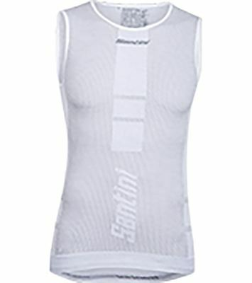 Santini 365 Bm002Gllcarb Carbon 2 0 Vest White Medium/Large Whites M/L