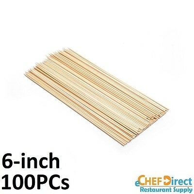 """(100 Pieces) 6"""" Wooden Bamboo Skewers"""
