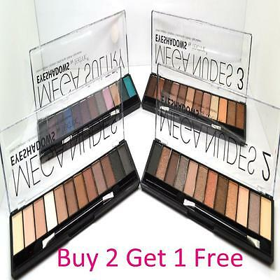 New Technic 12 Shade Mega Nudes Naked 2 3 & Sultry Eyeshadow Palette Smokey Eyes