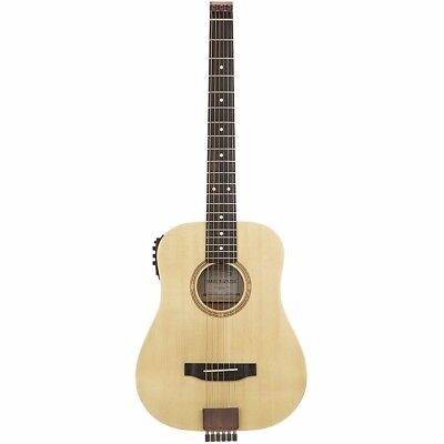 New Traveler AG-105EQ Acoustic-Electric Travel Guitar, Natural + Free Shipping