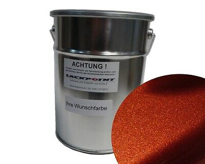 1 L Ready To Use Base Coat Copper Metallic Car Paint Lackpoint Tuning