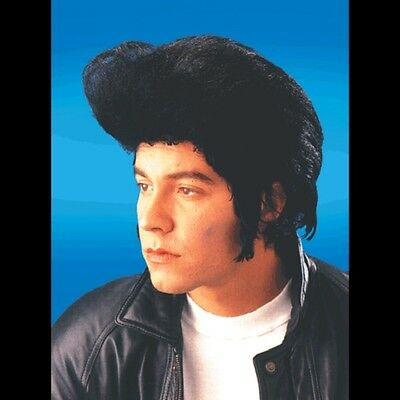The King Wig Elvis Presley 50s Pompadour Mens Black Pop Rock Icon Costume