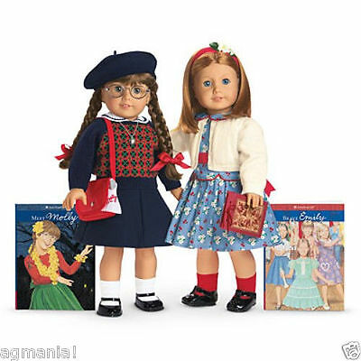 American Girl Molly+ Emily Doll+ Accessories New In Box