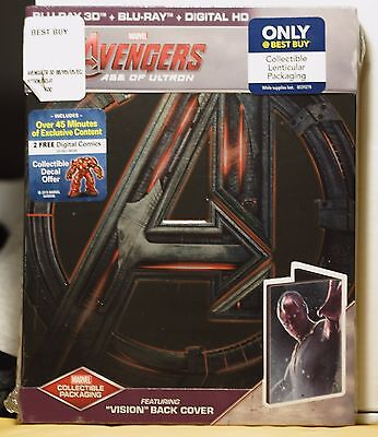 New Avengers Age Of Ultron 3D+2D Blu-Ray-Hd Ultraviolet Steelbook Vision! Sealed