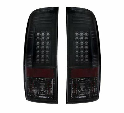 2008-2016 Ford F-250 F-350 Super Duty Smoked RECON LED Rear Tail Lights Lamps