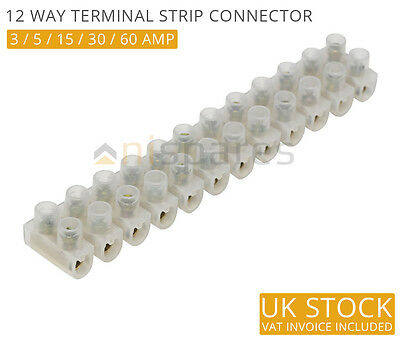 All Trade Direct 5 X 30 Amp Terminal Block Strip Connector Wire Joiner