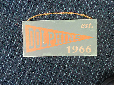 """NEW 12/"""" x 6/"""" New England Patriots Heritage Pennant Established 1960 Wood Sign"""
