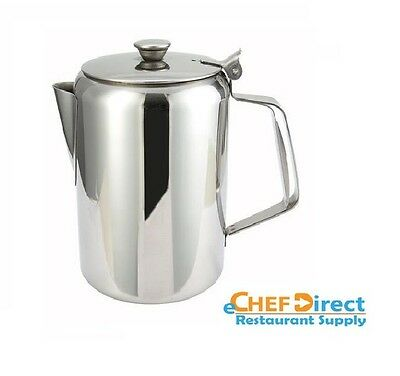NEW 32oz. Coffee Pot Teapot Stainless Steel Holloware