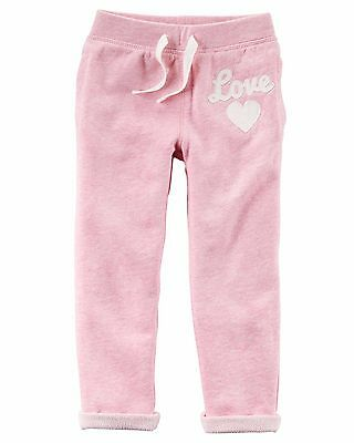 Carter's   Girls' French Terry Pants   MSRP$24.00   Size 5, 6, 7, 8
