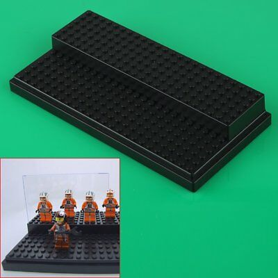 1 Pc Black Display Box for Lego minifigure build toy Stackable Case New