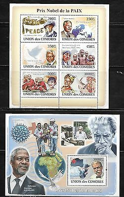 Comoro Islands 1061-62 Nobel Prize Winners Mint NH