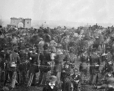 New 11x14 Civil War Photo: Crowd & Gate, Gettysburg Address Cemetery Dedication