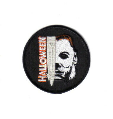 Halloween Movie Michael Myers Face and Knife Name Embroidered Patch, NEW UNUSED
