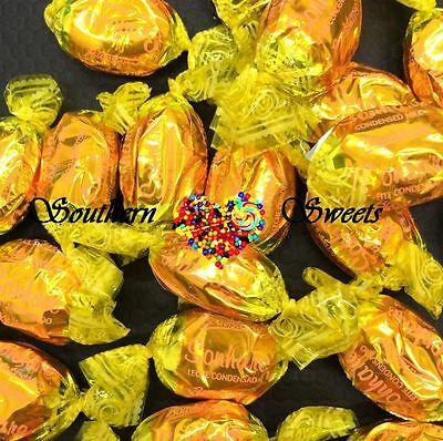 1Kg Vanilla Caramel Toffees Gold Yellow Lollies Christmas Xmas Candy 143Ct