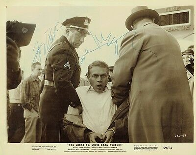"""STEVE MCQUEEN - Signed B/W Film Promotional """"United Artists"""" photograph"""