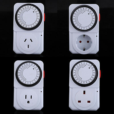 24 Hours Electrical Energy-saving Programmable Timer Plug Socket Outlet Switch