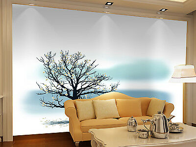 3D Tree abstract art paint Wall Paper Wall Print Decal Wall Deco Indoor Murals