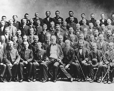 New 11x14 Photo: Civil War Veterans & Union General William T. Sherman