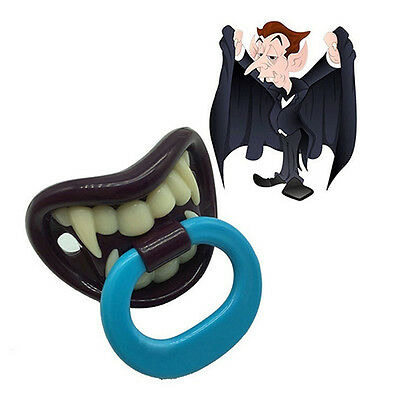 Baby Boy Girl Novelty Dummy Baby Pacifier Vampire Tooth Nipple Eager