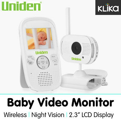 "Uniden 2.3"" Baby Video Monitor Safety Device Wireless Bw3001 Audio Camera"
